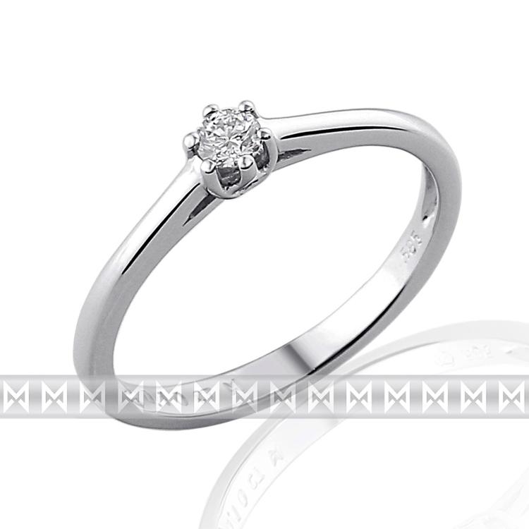 Zasnubni Prsten S Diamantem Bile Zlato Brilianty Briline 3860880 0