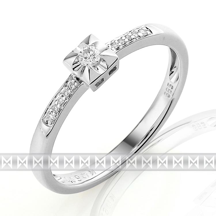Zasnubni Prsten S Diamantem Bile Zlato Brilianty Briline 3861289 0
