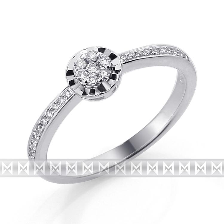 Zasnubni Prsten S Diamantem Bile Zlato Brilianty Briline 3861754 0