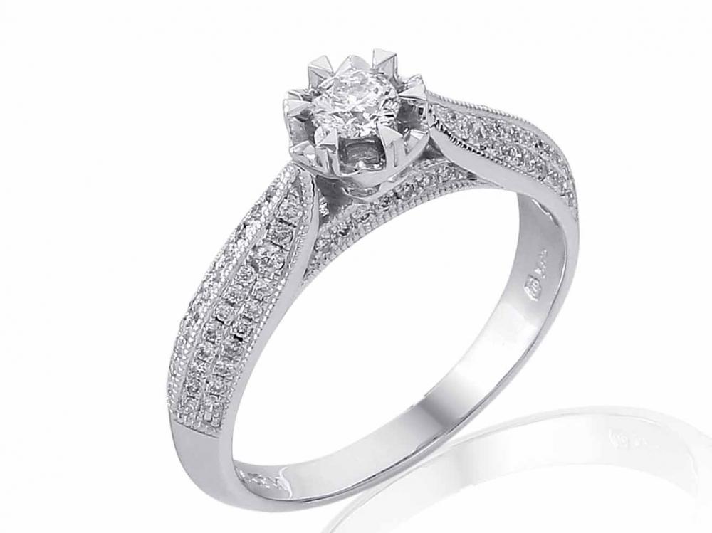 Zasnubni Prsten S Diamantem Bile Zlato Brilianty Briline 3861792 0