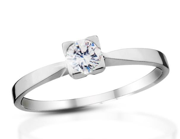 b0c1d4a2c Prsten s diamantem Briline 09-90 | Šperky