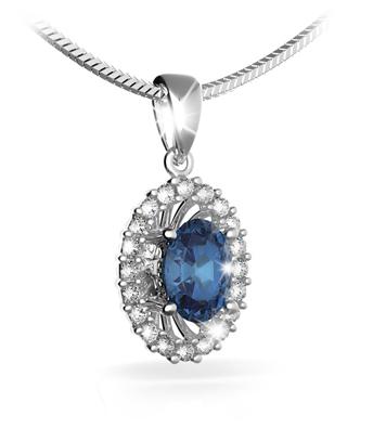 4daac44fb Přívěs s diamanty a přírodním safírem Briline 387-0143-safir   Šperky