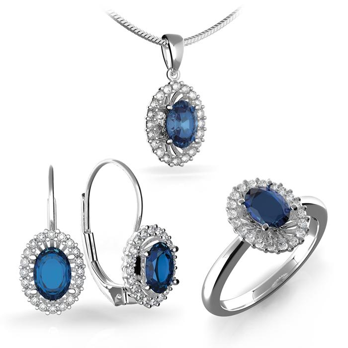 78d8df83a Náušnice s diamanty a safírem Briline 388-0120-safir   Šperky